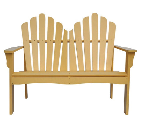 Outdoor Cedar Wood Garden Bench Loveseat - 49.5L x 31.5W x 37H