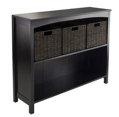 Espresso 3 Tier Bookcase Shelf Dresser - 37