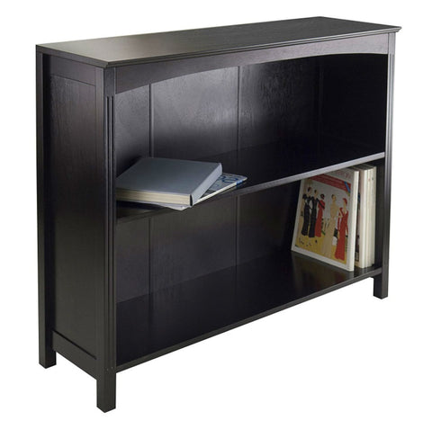 "Espresso 3 Tier Bookcase Shelf Dresser - 37""W x 11.81""D x 30""H"