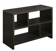 Bookcase Console Table in Espresso Wood Finish - 38 x 15.5 x 28