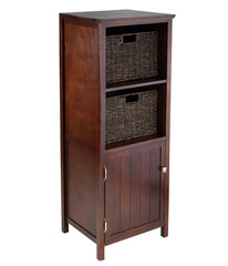 Walnut 3 Piece Cabinet Cupboard Storage  17.32  x 15.75 x 47.44
