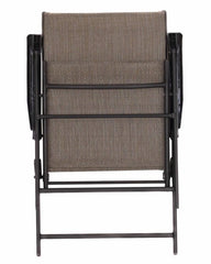 Set of 2 Outdoor Folding Patio Chairs in Brown 36.38