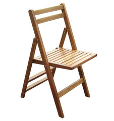 Set of 4- Outdoor Wooden Folding Patio Chairs - 17.7 x 19.5 x 35