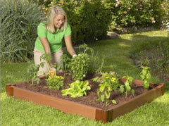 4 x 4 Foot Outdoor Raised Garden Bed Planter - 45.2 x 8.1 x 6.3