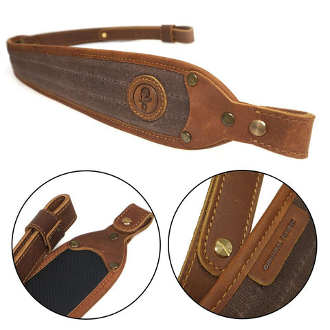Hunting Gun Accessories Leather Rifle Sling Adjustable Shoulder Padding Canvas Shotgun Shooting Tactical Strap 106cm