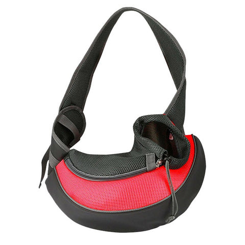Pet Puppy Carrier S/M Outdoor Travel Dog Shoulder Bag Mesh Oxford Single Comfort Sling Handbag Tote Pouch