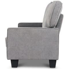 Classic Grey Fabric Loveseat Sofa with Armrests - 69