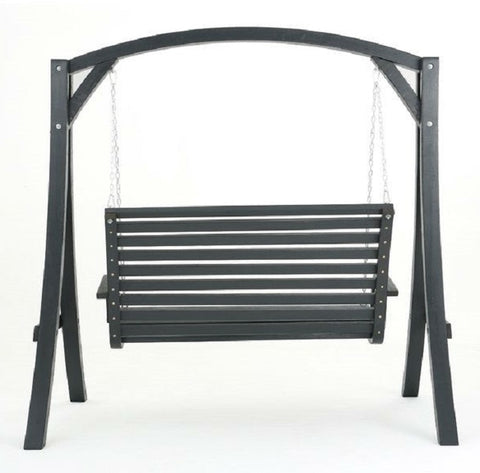 Outdoor Wooden Hanging Porch Swing  - 77'' H x 75'' W x 55'' D