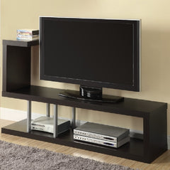Modern Entertainment Center TV Stand in Cappuccino Finish - 33