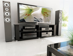 Modern Black TV Stand - Fits up to 68-inch TV