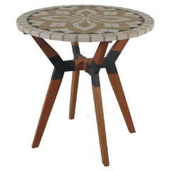 Round 30-inch Bistro Style Outdoor Patio Table