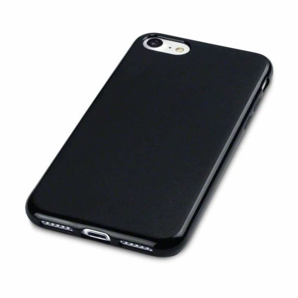 coque iphone 7 noire brillante