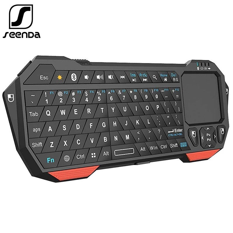 SeenDa Mini Bluetooth Keyboard with Touchpad for Smart TV Compatible with Android iOS  and Windows