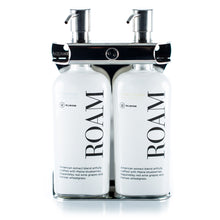 Load image into Gallery viewer, Polished Stainless Steel Double Oval Bottle Amenity Fixture