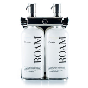Polished Stainless Steel Double Oval Bottle Amenity Fixture
