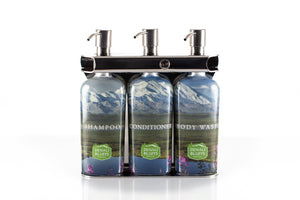 Polished Stainless Steel Triple Oval Bottle Amenity Fixture