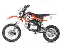 Apollo DB-X19 With HEADLIGHTS 125cc Pit / Dirt Motorcycle-17-inch front tire, manual transmission, 32.25-inch seat height