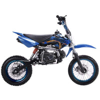 Coolster QG214 Mid 125 Kids Dirt Bike-14 inch front tire, manual transmission, 29.5 inch seat height-[Not California Legal]
