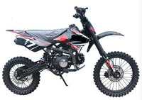 "Jet Moto XR-17 - 125cc Deluxe Dirt / Pit Bike with Extra Large 17"" Wheel - DB T006"