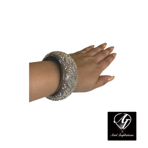 Thick Bling Rhinestone Bangle Bracelet