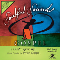 I Can't Give Up by Byron Cage CD