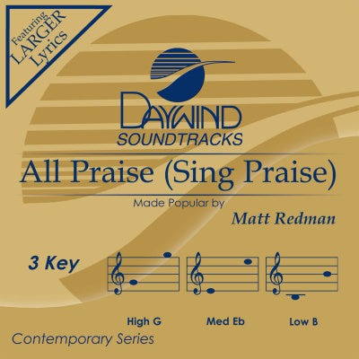 All Praise (Sing Praise) by Matt Redman CD