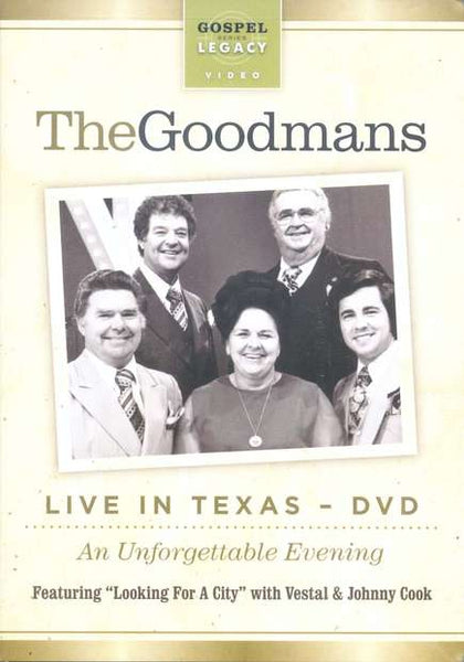 HAPPY GOODMAN FAMILY - LIVE IN TEXAS DVD