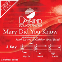 MARY DID YOU KNOW CD (Mark Lowry / Gaither Vocal Band) CD