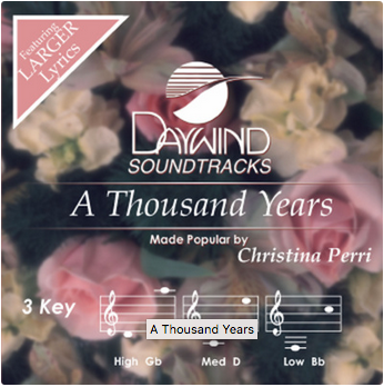 A Thousand Years (Christina Perri) CD