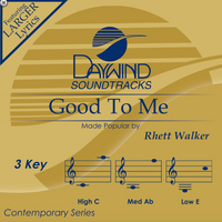 Good To Me (Rhett Walker) CD