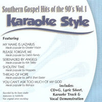 Karaoke Style: Southern Gospel Hits of the 90's, Vol. 1