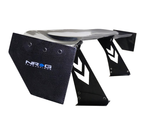 "Carbon Fiber Spoiler - Universal (69"") with NRG Logo and Large Side Plate"