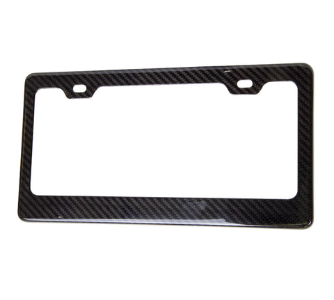 NRG License Plate Frame: Carbon Fiber Wet