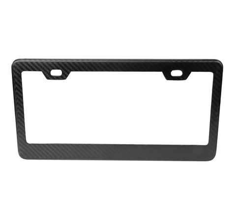NRG License Plate Frame: Carbon Fiber Dry
