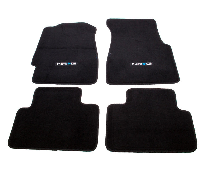 "NRG Innovations Floor Mats: 92-95 Honda Civic 2DR w/ ""NRG"" Logo (4 pieces) - Drive NRG"