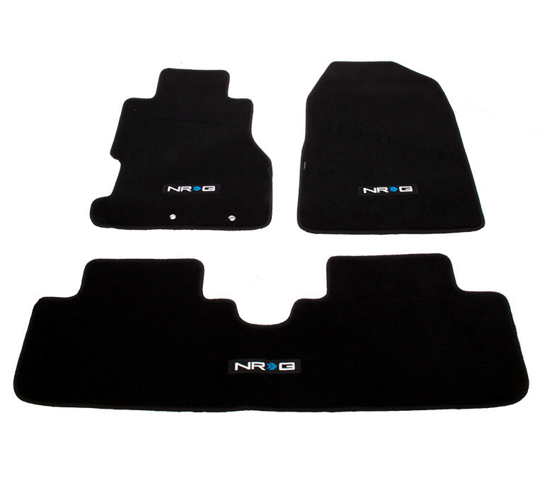 "NRG Innovations Floor Mats: 02-03 Honda Civic Si 3DR Coupe w/ ""NRG"" Logo (3 pieces) - Drive NRG"