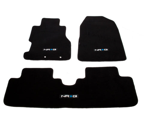 "NRG Innovations Floor Mats: 02-03 Honda Civic Si 3DR Coupe w/ ""NRG"" Logo (3 pieces)"