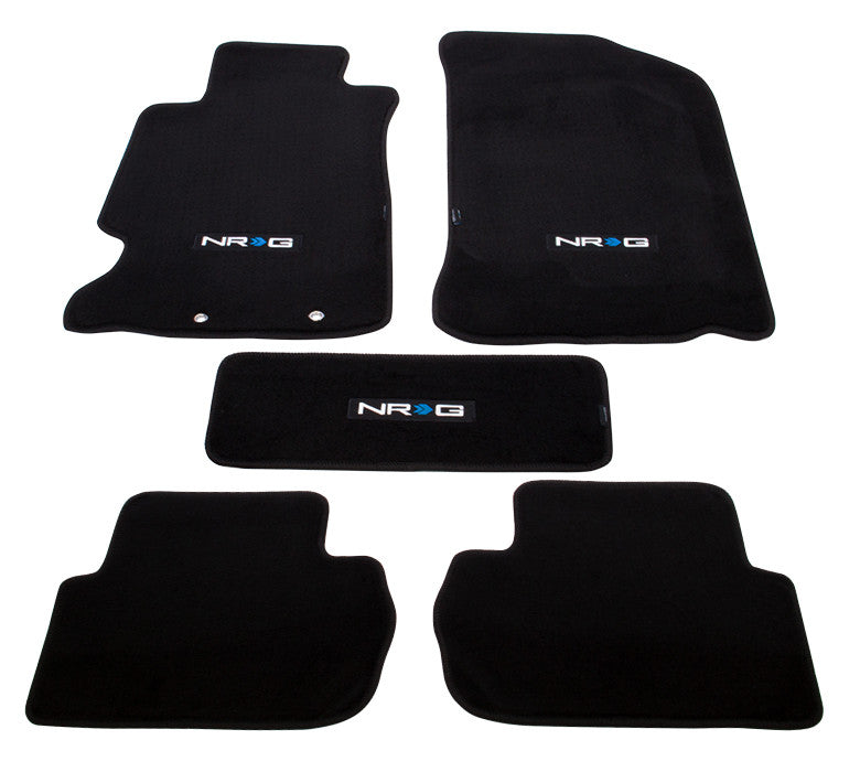 "NRG Innovations Floor Mats: 02-06 Acura RSX w/ ""NRG"" Logo (5 pieces) - Drive NRG"