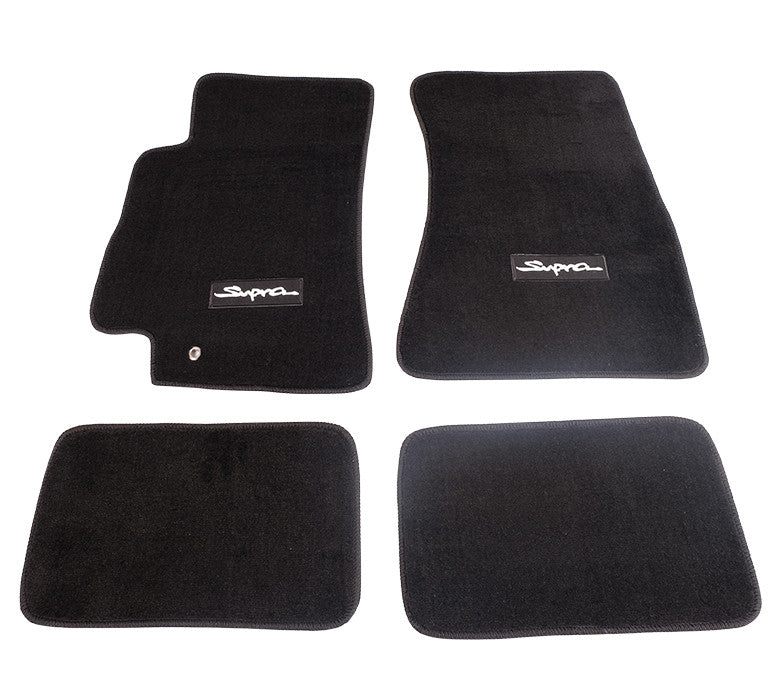 "NRG Innovations Floor Mats: 96-02 Toyota Supra w/ ""Supra"" Logo (4 pieces) - Drive NRG"