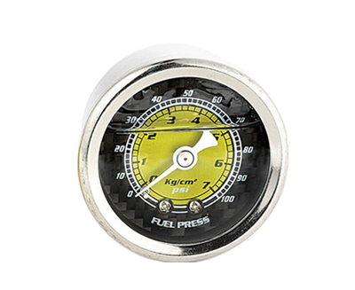 Fuel Regulator Gauge (Carbon Fiber Finish) - 100psi - Drive NRG