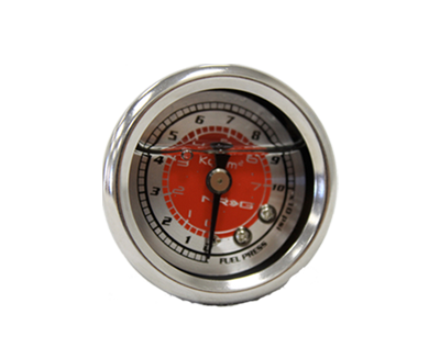 Fuel Regulator Gauge - Red - Drive NRG