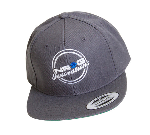 NRG Innovations Classic Snapback (Grey w/ White Lettering)