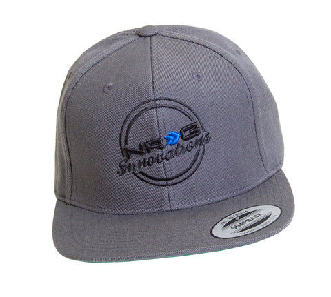 NRG Innovations Classic Snapback (Grey w/ Black Lettering)