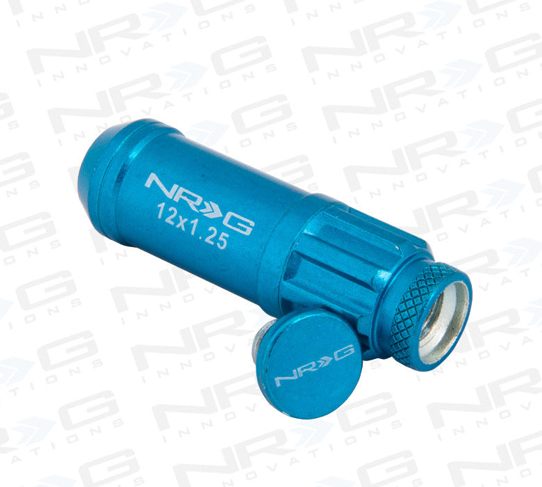 NRG Steel Lug Nut M12 x 1.5 (Blue 21pc) - Drive NRG