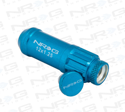 NRG 700 Series Steel Lug Nut M12 x 1.25 (Blue 21pc)