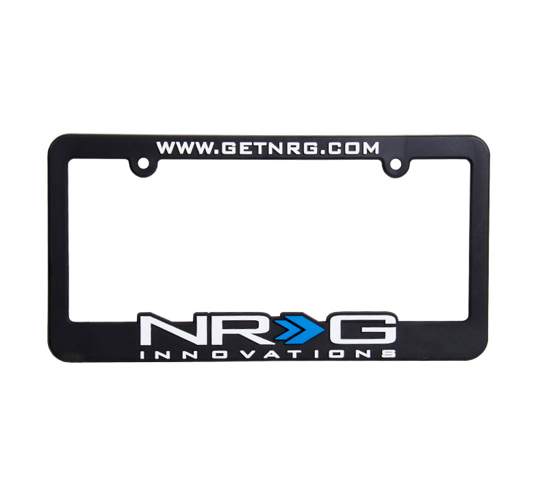 NRG License Plate Frame (Black/White/Blue) - Drive NRG