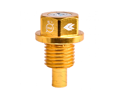 M14 X 1.5 Gold Magnetic Oil Drain Plug