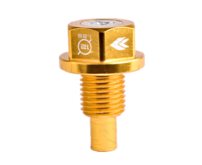 M12 X 1.25 Gold Magnetic Oil Drain Plug