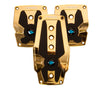 NRG PDL-200C/GD: Chrome Gold Aluminum Sport Pedal w/ Black Rubber Inserts MT