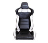 NRG RSC-700: PVC Sport Black Seat with White Stitch and Logo - Drive NRG